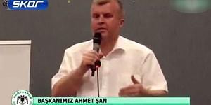 Ahmet Şan: 'İzmir Marşı Bir Tek Bizim Statta Söylenmiyor'