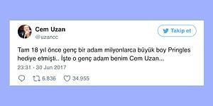 Cem Uzan'ın Twitter Hesabından Bedava Pringles Tadında 17 Paylaşım