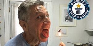 1 Dakika İçerisinde Diliyle En Fazla Kibriti Söndürerek Guinness Rekorlar Kitabına Giren Adam