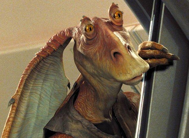 6. Star Wars'daki Jar Jar Binks aslında bir Sith!