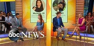 3 Yıl Boyunca Tinder'dan Mesajlaşmalarıyla Ünlenen Çift Televizyon Programında Buluştu!