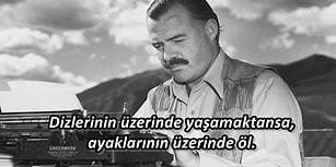 Dünya Edebiyatına Yön Veren Ernest Hemingway'in Kılavuz Niteliğindeki 21 Sözü