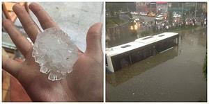 Göz Gözü Görmüyor! İstanbul Dolu, Yağmur ve Fırtınaya Teslim