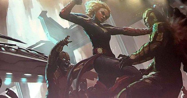 """Filmin kötüleri ise """"Skrull"""" isimli şekil değiştirebilen uzaylılar olacak."""