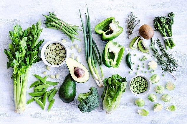 12. Yeşil sebzeler