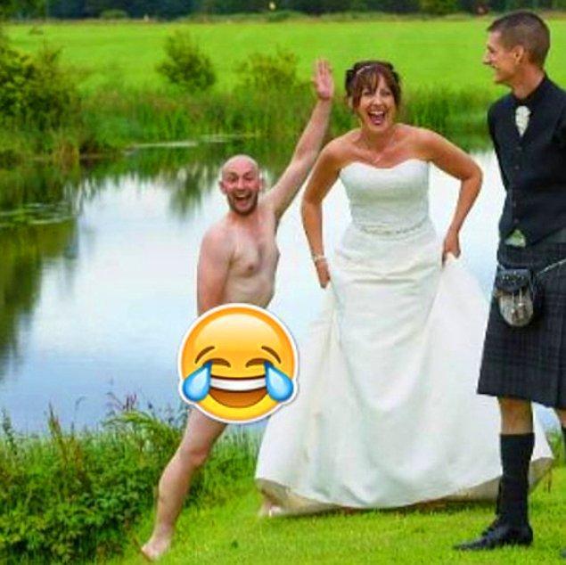 Wallace, Stephen Jolly tarafından çekilen bu çılgın fotoğrafı Facebook hesabında paylaştığında ise kahkahalara engel olamadı.