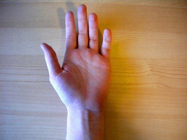 Öncelikle kollarınızı avuçlarınız yukarı bakacak şekilde bir zemine koymanızı rica edelim...