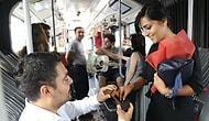 Metrobüste Sürpriz Evlilik Teklifi Yapan Yurdumun Romantik Erkeği