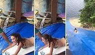 Yazın Keyfini Brezilya'da Yaşamak Varmış Dedirten Muhteşem Slip 'n Slide Görüntüsü