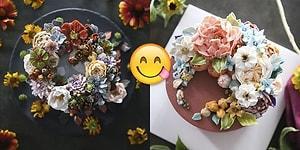 Tam da Yaz Mevsimine Yakışır! İnsanın Yemeye Bile Kıyamayacağı Çiçek Bahçesi Gibi 29 Pasta