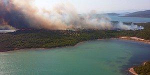 Şeytan Sofrası Civarında Orman Yangını: Ayvalık Adaları Tabiat Parkı'ndan Alevler Yükseliyor