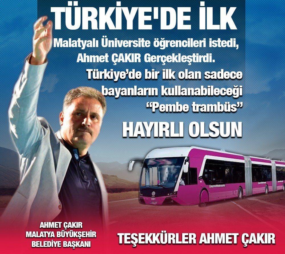 Kadınlara Özel Ulaşım Uygulamaları Yine Türkiye Gündeminde: Malatyada Pembe Trambüs Dönemi 17