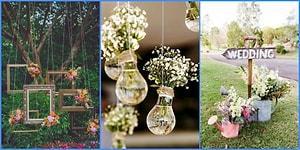 Düğün Mekanınızı Kendi Zevkinize Göre Güzelleştirebileceğiniz 15 Yaratıcı Fikir