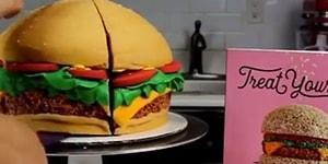 İzlerken İnsanı Acıktıran Hamburger Şeklinde Pasta Yapımı