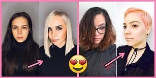 Dönüşüm Muhteşem Olmuş! Kısa Saçların Dayanılmaz Hafifliğini Kanıtlayan 17 Karşılaştırma