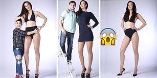 Photoshop Değil Gerçek! 205cm Boyuyla Dünyanın En Uzun Bacaklarına Sahip Olan Kadın!
