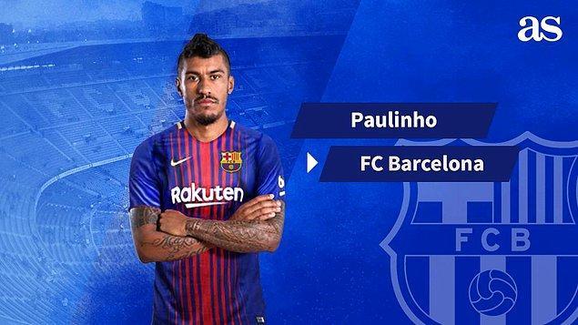 12. Paulinho ➡️ Barcelona