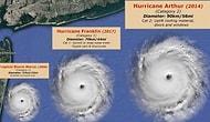 Sandy'den Irma'ya Boyutlarına Göre Kasırgalar