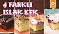 Klasik Lezzetlerden Sıkılanlara: 4 Farklı Islak Kek Nasıl Yapılır?