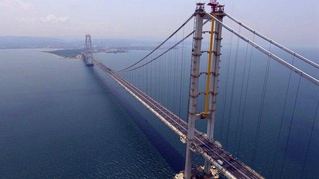 11. Çanakkale Boğazı'nda devam eden asma köprünün adı nedir?