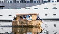 Suda Batmayan Kartondan Tekne Yapmışlar