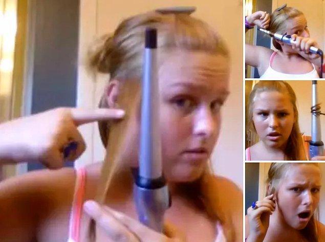 8. Sıcak maşanın saçlarınızı koparması. 😱