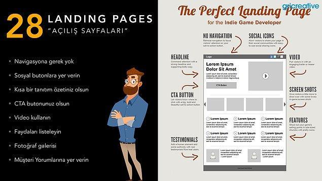 Landing Pages / Açılış Sayfaları