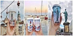 Gittiği Yerlerin Resmini Kahve Bardaklarına Çizen Sanatçıdan 20 Muhteşem Çalışma