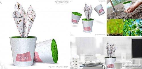 Potiss Paper Tissue Box by Tasarist