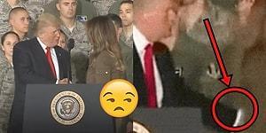 Tuhaf Bir İlişki: Donald Trump Bu Sefer de Kendisini Takdim Eden Eşini Kürsüden İtti!