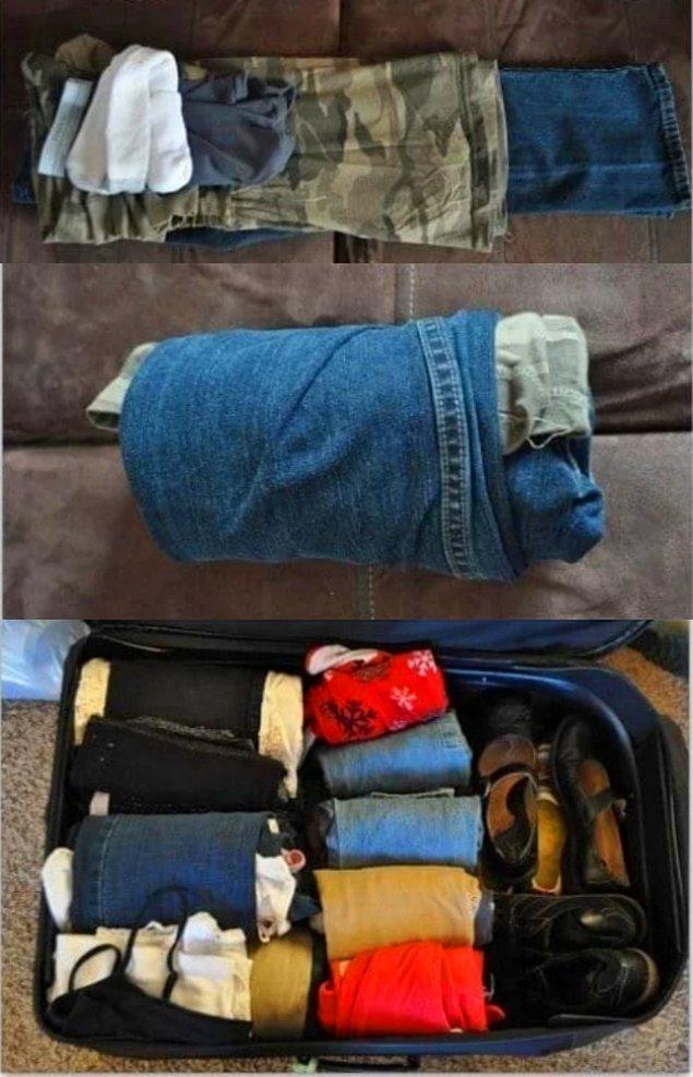 13. Kocaman kıyafetlerinizin arasına minnoşlarınkini koyduğunuzda valizde yer kaplamayacak.