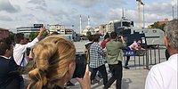 'Cumhuriyet Davası'nda Ahsen Tv Muhabiri ile Gençler Arasında Arbede Çıktı: 'Vatan Hainisiniz'