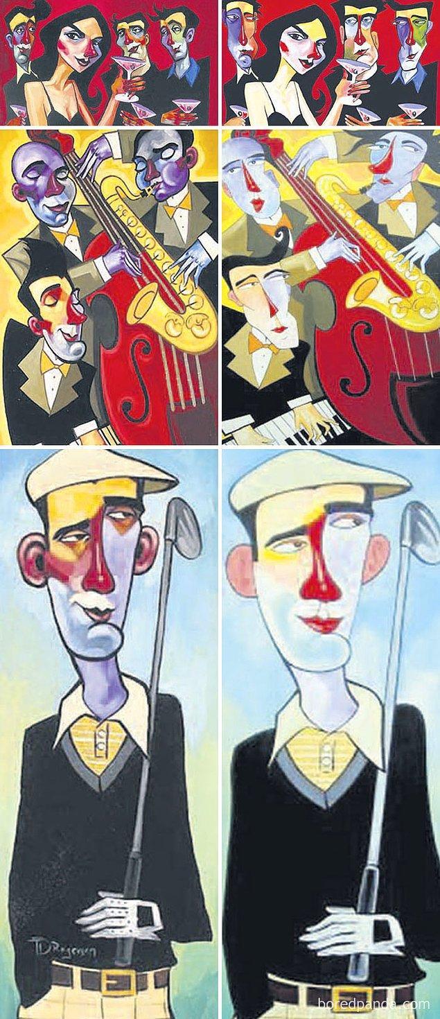 19. Resimlerin solda yer alan orijinalleri Tim Rogerson'a ait.