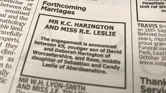 Bu arada nişanlarını gazete ilanı ile duyurduklarını söylemiş miydik? Şahane olay...