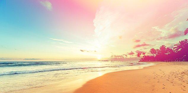 Kendini deniz kenarına at!