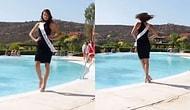 Güzellik Yarışmasında Kendini Jüriye Tanıtırken Şanssız Bir Şekilde Soluğu Havuzda Alan Kadın