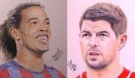 Kaleminden Mükemmellik Akan Sanatçının Fotoğrafmış Gibi Kağıda Döktüğü 18 Yıldız Futbolcu