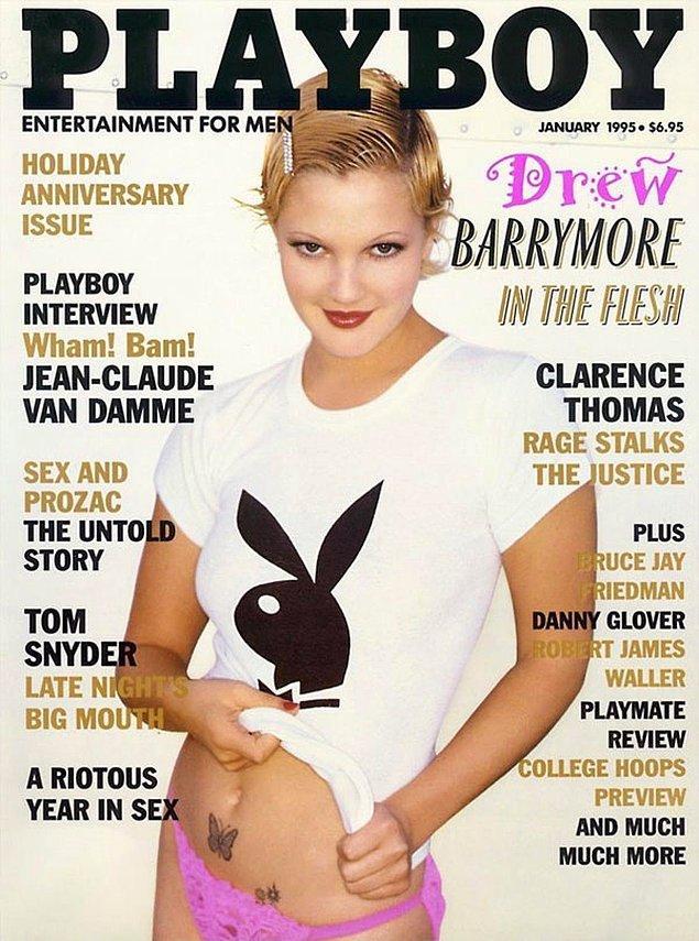 9. 1995: Drew Barrymore, 10 ülkenin kapağında yer aldı. Bu ülkeler arasında Rusya ve Japonya da var.
