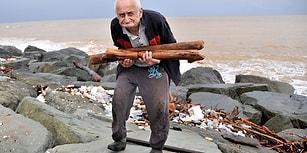 Rize'de Sel, Önünde Kattığını Denize Sürükledi: Kışın Isınmak İçin Odun Toplayan 85 Yaşındaki Cevat Dede