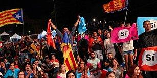 Çarpıcı Görüntüler ile Katalonya'da Bağımsızlık Referandumu: Yüzde 90 'Evet'