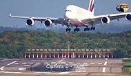 Xavier Fırtınası Yüzünden Piste İnmekte Zorlanan Airbus A380 Uçağının Ürküten Görüntüsü