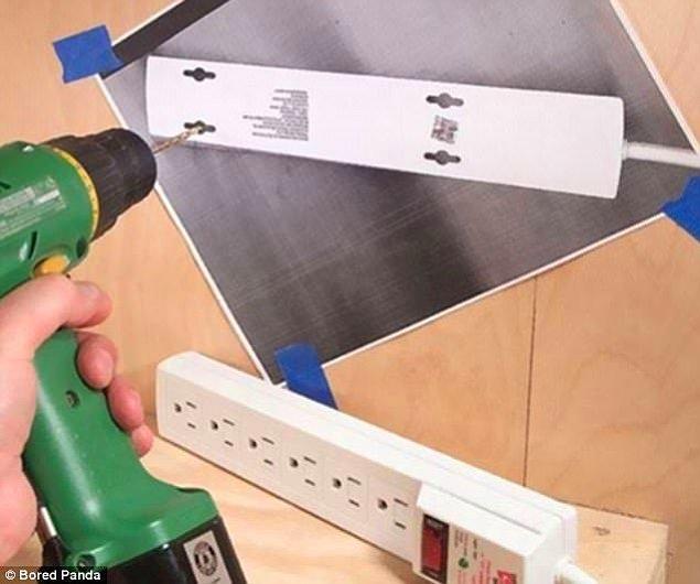 7. Duvara monte etmek istediğini herhangi bir eşya varsa, fotokopisini çekip deleceğiniz yerleri kolayca tespit edebilirsiniz.