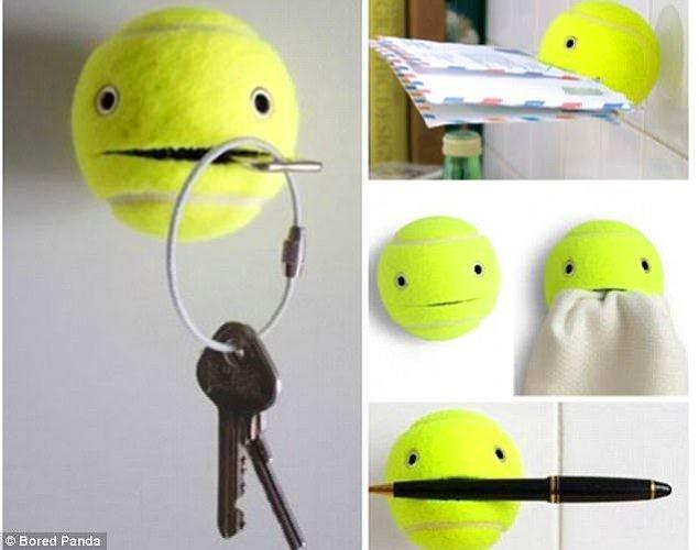 20. Tenis topuyla gülen suratlı bir duvar askısı yapılabilir.