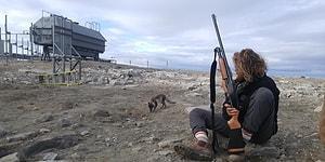 Dünyanın En İlginç Mesleği! Gizli Bir Üssü Tüfeğiyle Kutup Ayılarından Koruyan Adamla Tanışın!