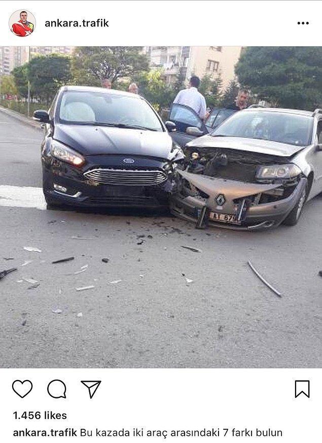 1. Trafiğin nabzını tutan Ankara'da Trafik sayfasında öyle örnekler var ki nutuk tutulması yaşatır. Önce paylaşımları, ardından akıllara zarar yorumları görelim.