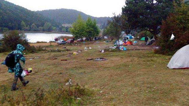 Kampın işletme sorumlusu Turgay Kahraman ise 2-3 bin kişilik katılım beklenen kampa 8 bin kişinin katıldığını belirtti.