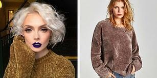 Her Kış Aynı Şeyleri Giymekten Bıkanlar İçin Sıcacık ve Şık Son Moda Şönil Kazaklar