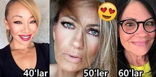 Makyajın Yalnızca 40 Yaş Altındakiler İçin Olmadığını Kanıtlayan 24 Güzeller Güzeli Kadın