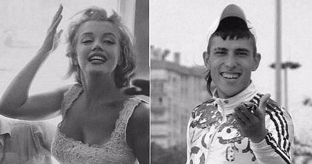 2. Marilyn Monroe sevinci