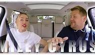 James Corden'la Carpool Karaoke'de Sıra Miley Cyrus'da!